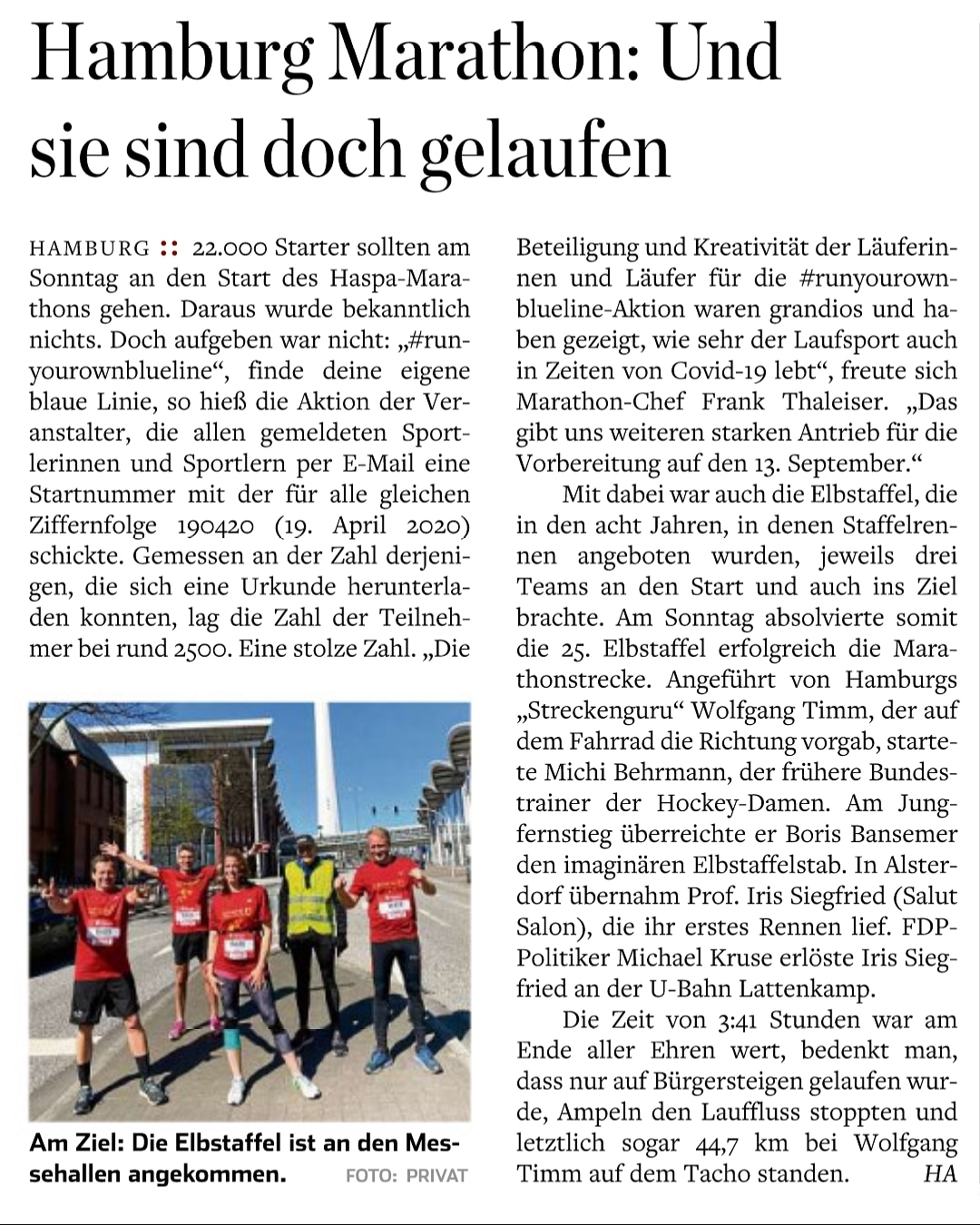 Hamburger Abendblatt vom 20. April 2020
